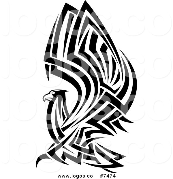 600x620 Royalty Free Clip Art Vector Logo Of A Tribal Black And White