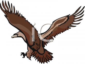 350x265 Royalty Free Eagle Clip Art, Bird Clipart