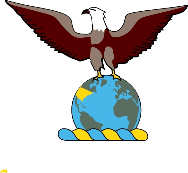 600x551 Eagle Over Globe Clip Art Free Vector In Open Office Drawing Svg