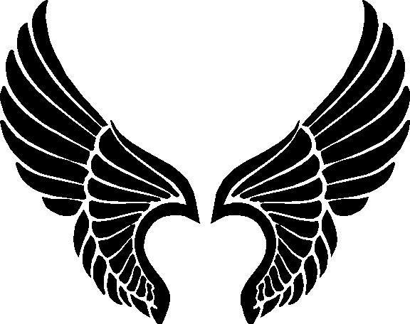 576x456 Black Wings Clipart