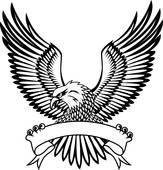 163x170 Hawk Wings Clip Art