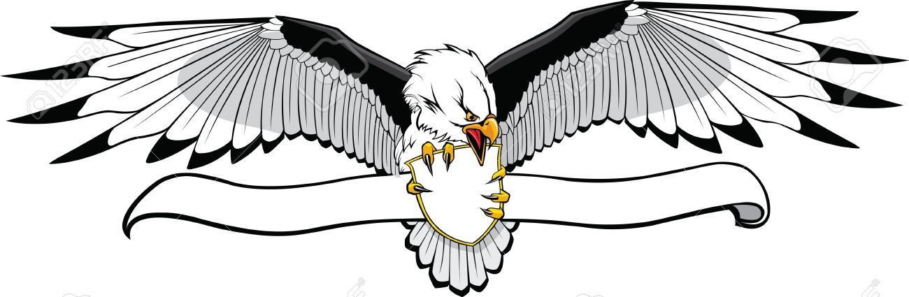1300x425 Eagle Banner Clipart