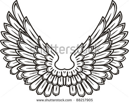 450x360 Wings Spread Clipart