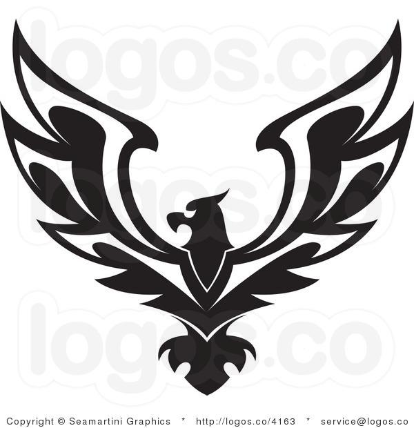 600x620 Black Eagle Clip Art
