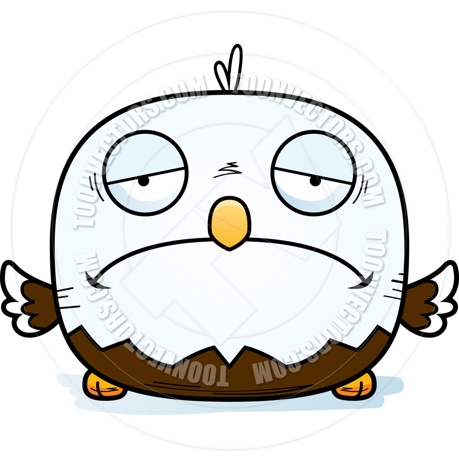 940x940 Cartoon Little Bald Eagle Sad By Cory Thoman Toon Vectors Eps