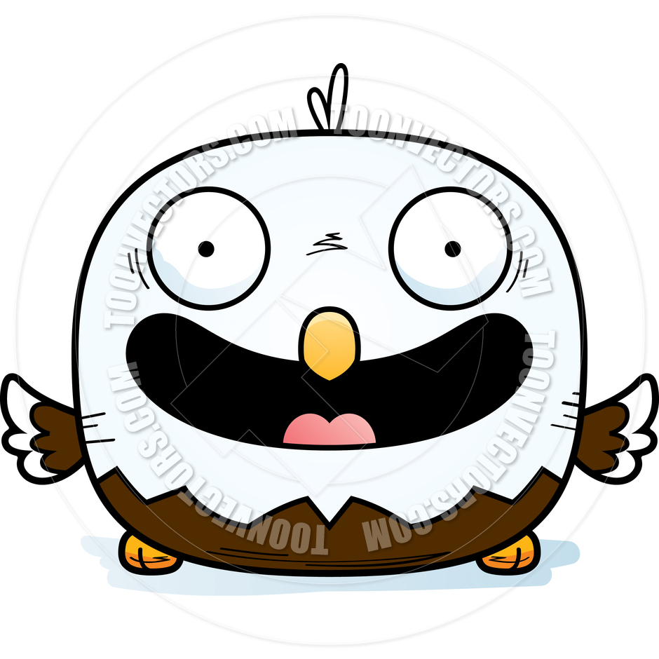 940x940 Cartoon Little Bald Eagle Smiling By Cory Thoman Toon Vectors