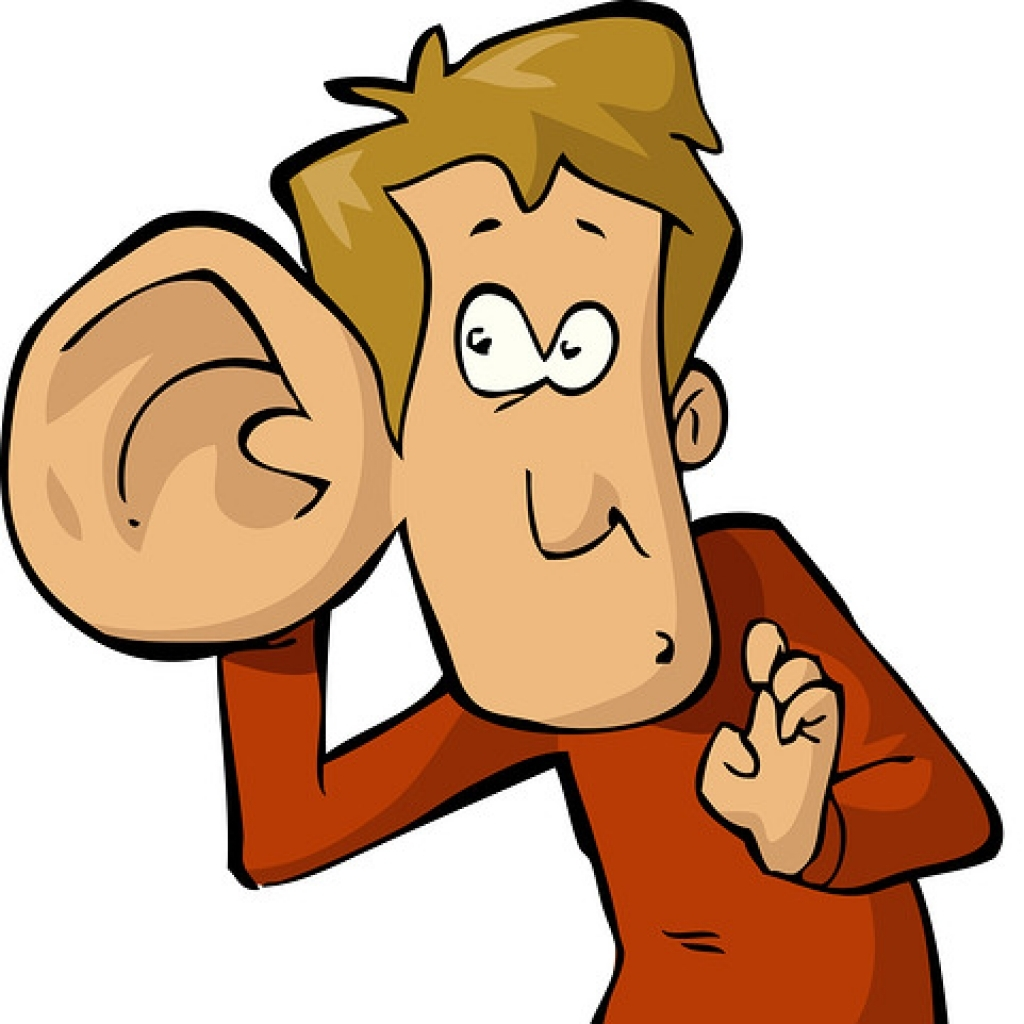 1024x1024 Big Ear Clipart Man With Listening