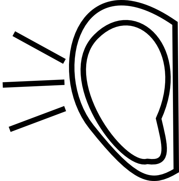 594x600 Right Ear Clip Art