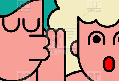 400x272 She Whispers In Woman's Ear Royalty Free Vector Clip Art Image