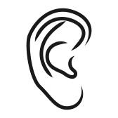 168x168 Ears Clip Art 17278756 The Human Ear Vector