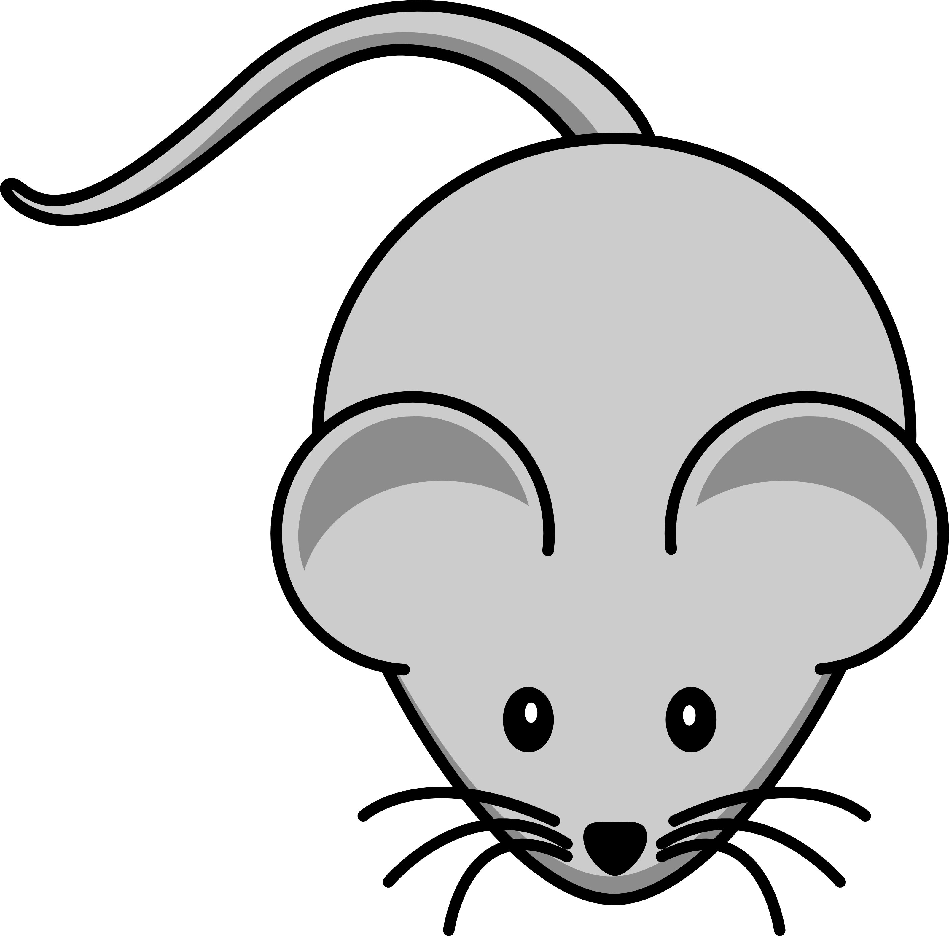3200x3156 Computer Mouse Clipart Black And White Free 4