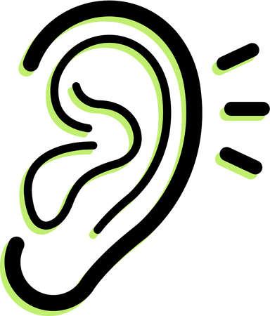 384x450 Animated Ear Clipart