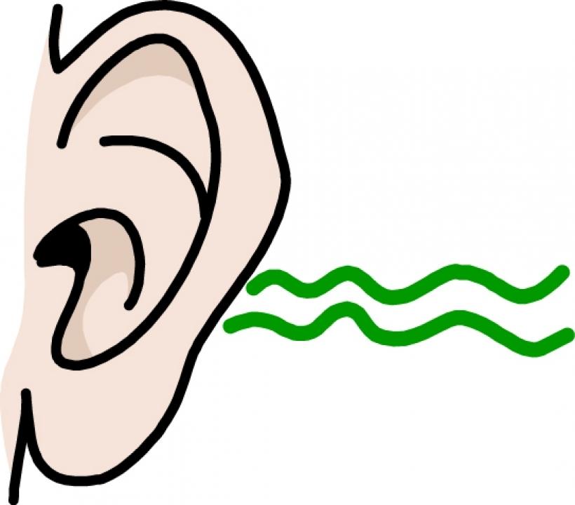 820x720 Clipart Of An Ear Listening