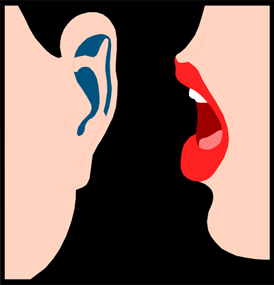 400x417 Clip Art Whispering In Ear Clipart Image