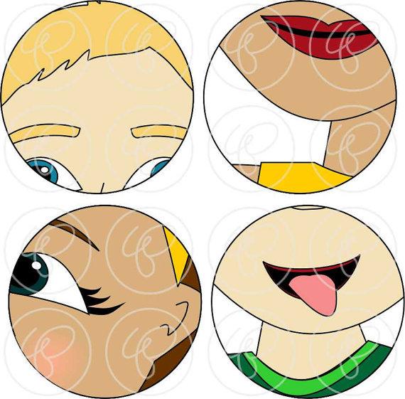 570x561 Face Parts Clipart Set 300 Dpi School Teacher Clip Art