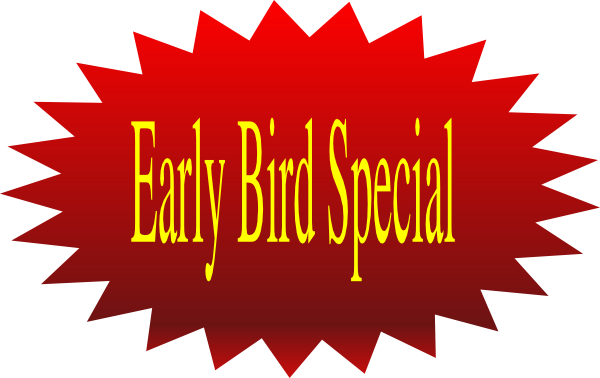 600x378 Early Bird Special Clip Art
