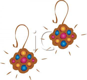 350x321 Jewelry Clipart Earring