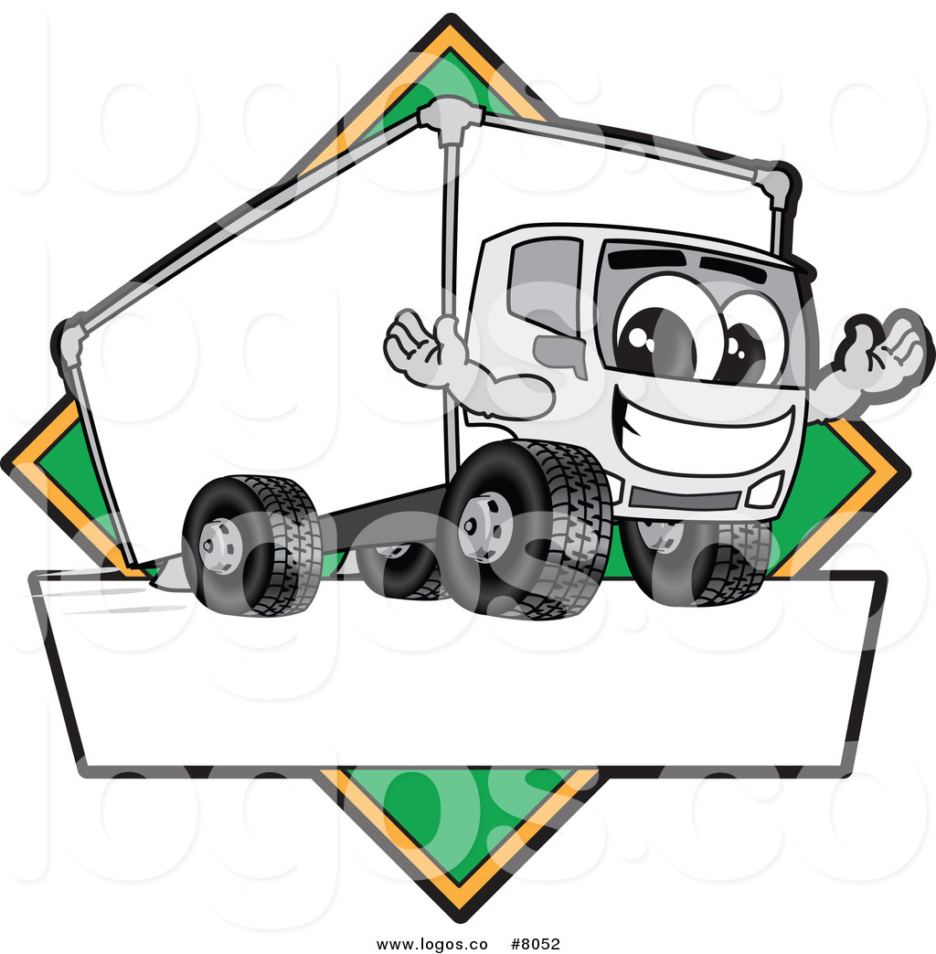 1024x1044 Royalty Free Clip Art Vector Logo Of A Delivery Big Rig Truck