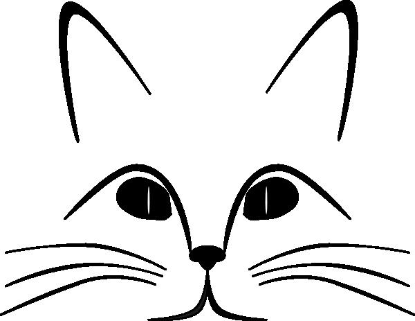 600x463 Cat Face Clip Art