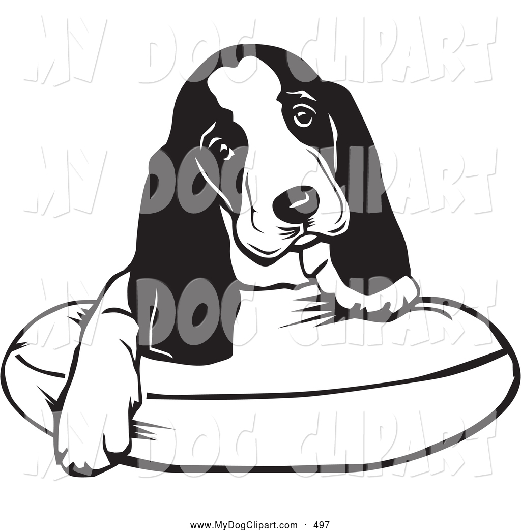 1024x1044 Clip Art Of A Cute And Adorable Basset Hound Puppy Dog With Long