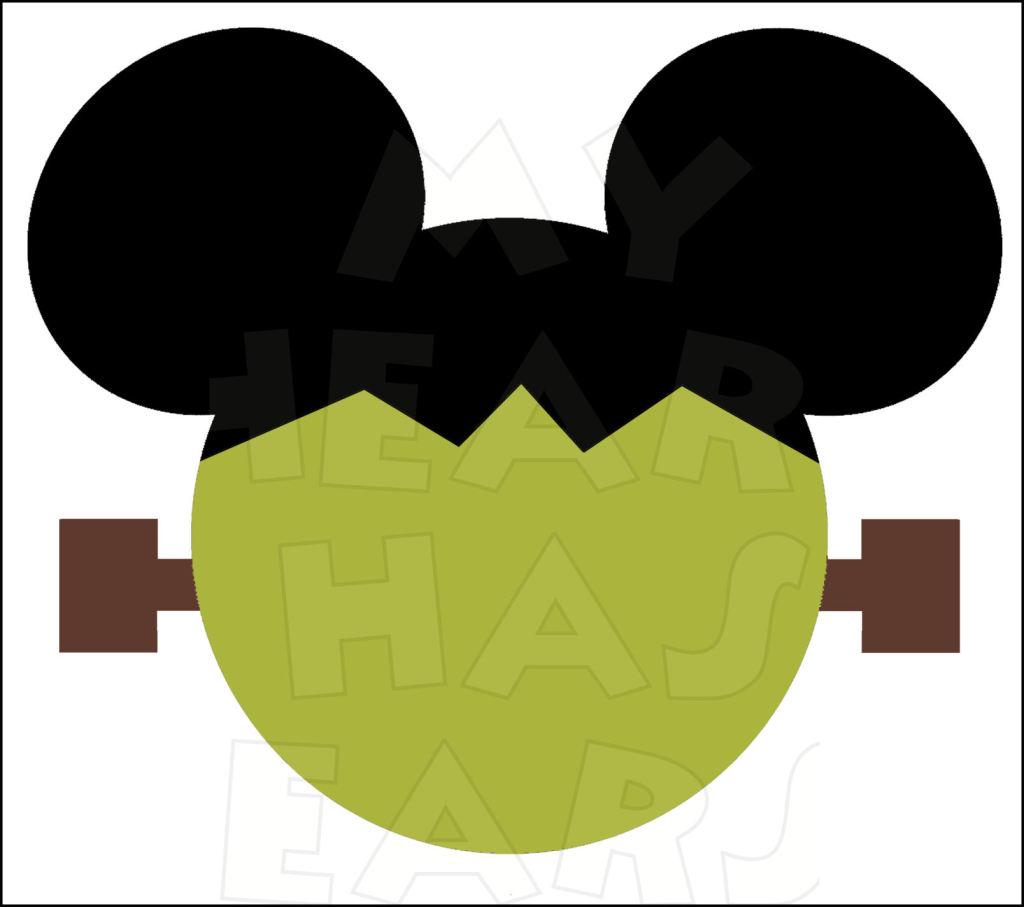 1024x907 Mickey Mouse Frankenstein Instant Download Halloween Digital Clip