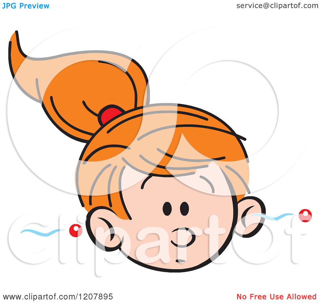 1080x1024 Ear Listening Girl Clipart