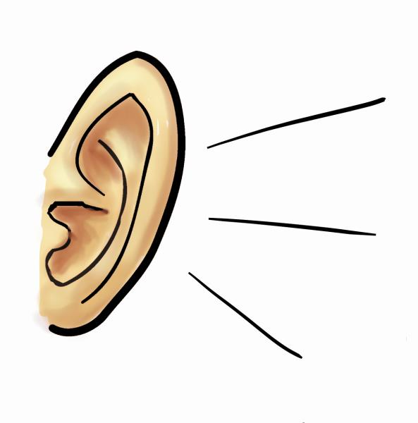 593x600 Free Listening Ear Clipart