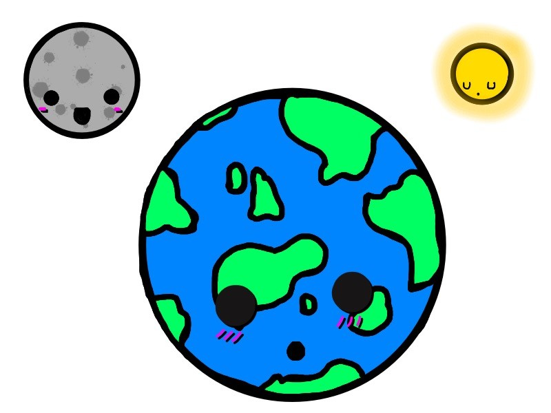 800x600 Moon clipart sun earth