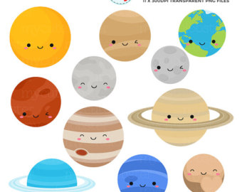 340x270 Solar System Clipart Set clip art of the planets Earth
