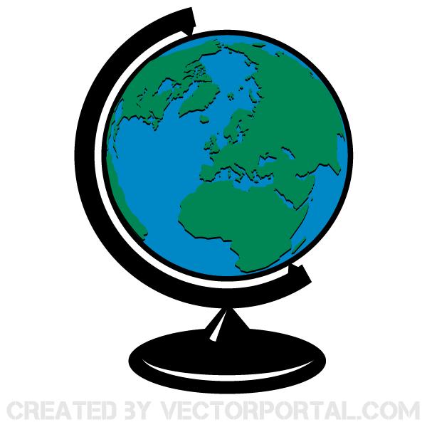600x600 Earth Globe Vector Clip Art 123Freevectors
