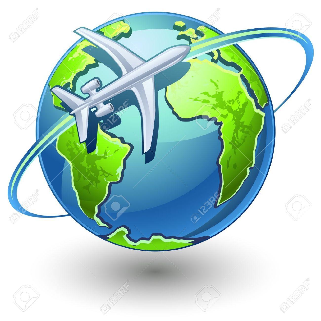 1300x1300 Plane globe clipart, explore pictures