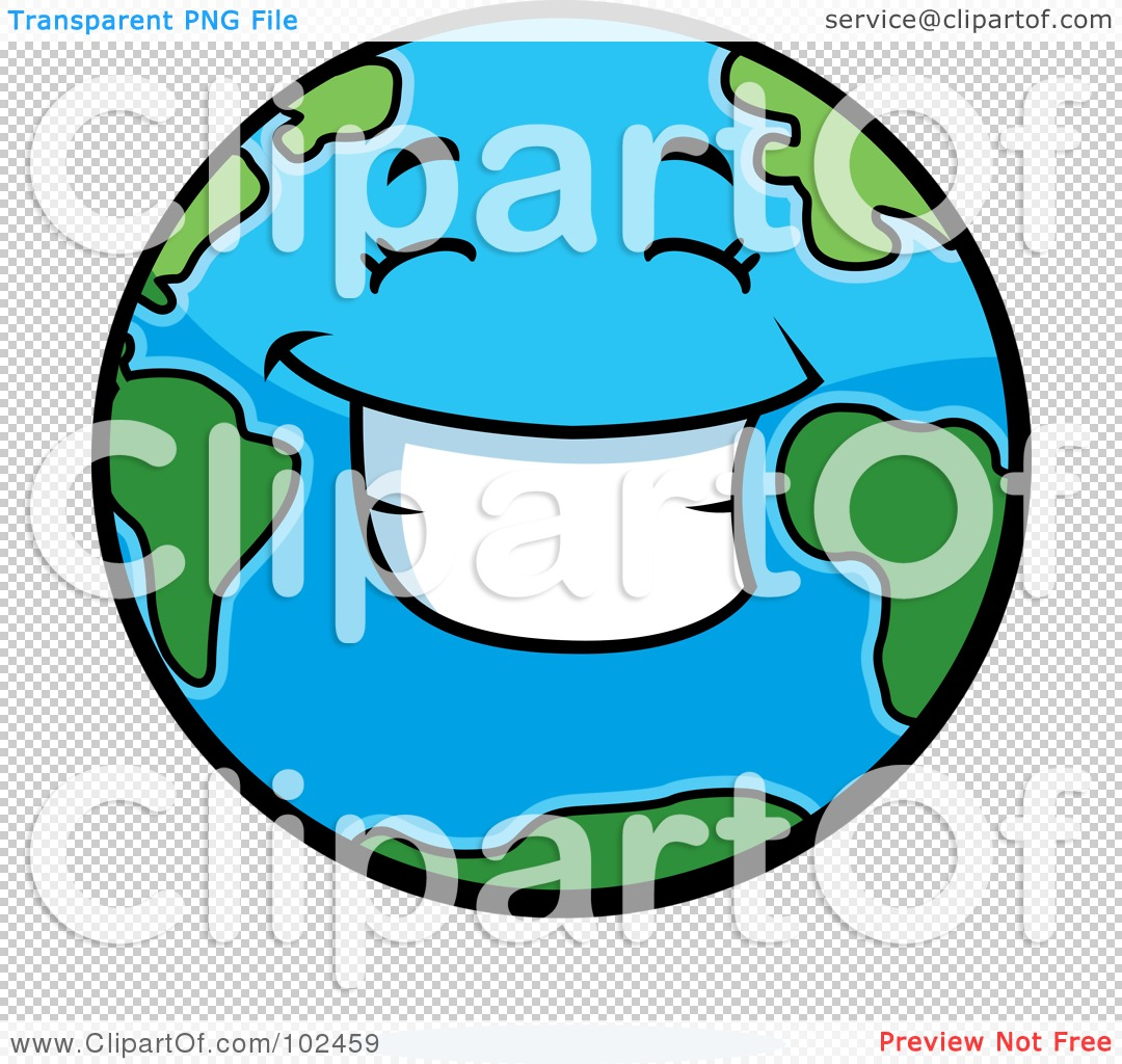 1080x1024 Royalty Free (RF) Clipart Illustration of a Smiling Happy Earth by