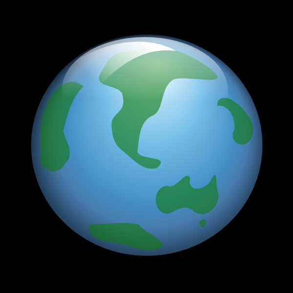 600x600 World Wide Web Black Background Clip Art