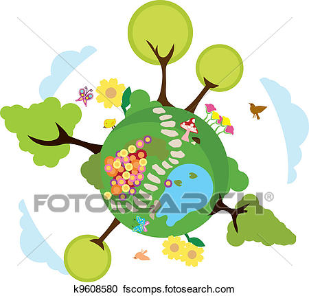 450x431 Clipart Of Environment Earth Background K9608580