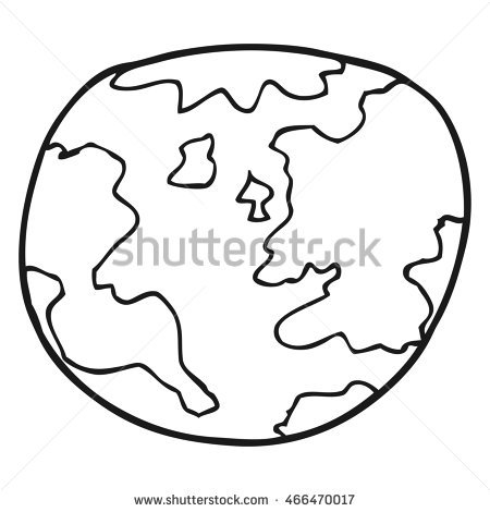 450x470 Drawn Earth Black And White