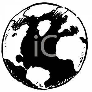 300x300 Earth Black And White Clipart