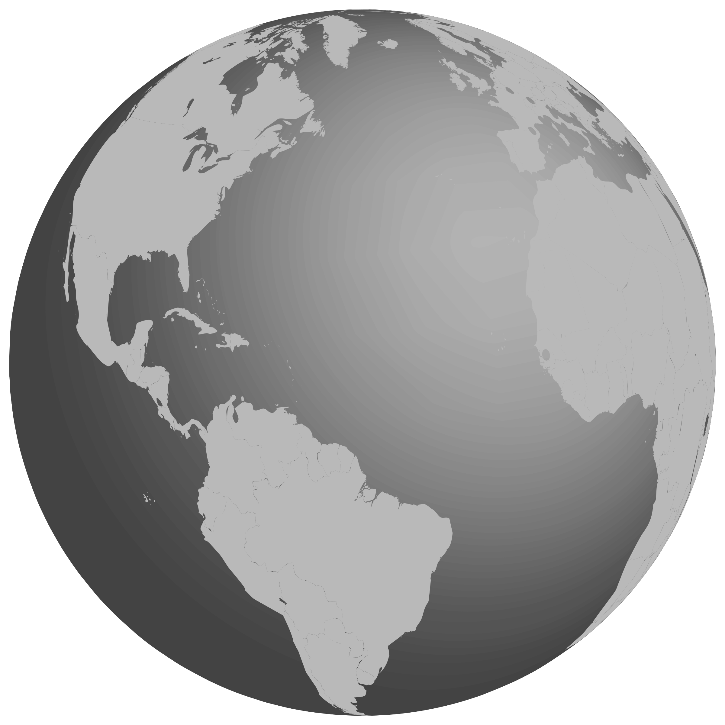 2400x2400 Earth Clipart Gray