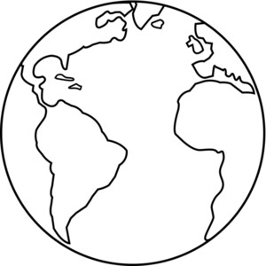 300x300 Globe black and white earth map clipart black and white
