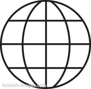 300x294 Globe earth clipart black and white free clipart images 4