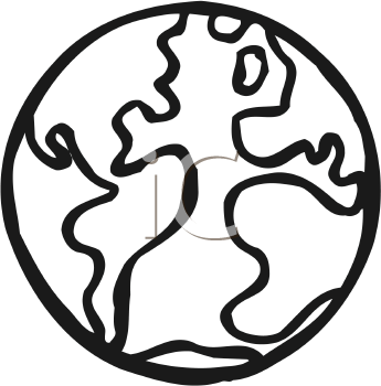 345x350 Earth Clipart Black And White Archives