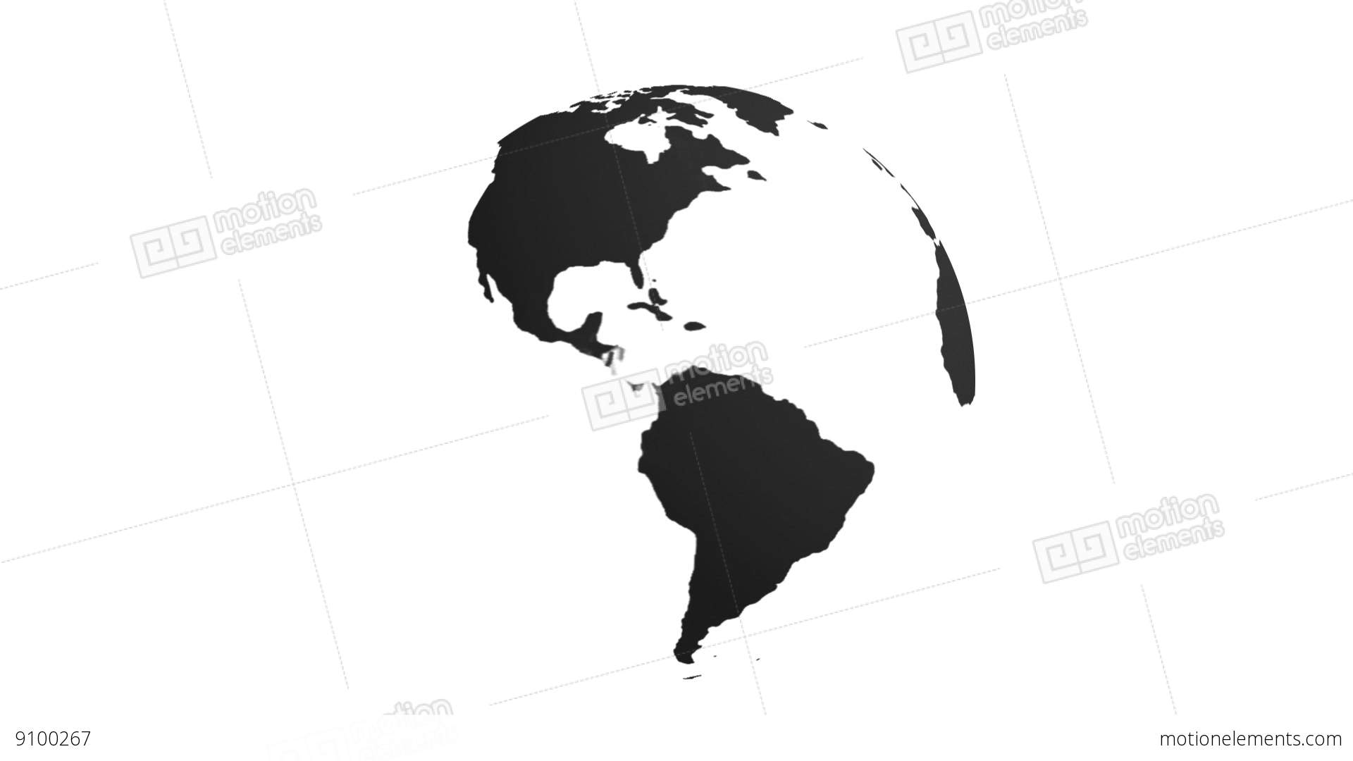 1920x1080 Black And White Earth Stock Animation 9100267