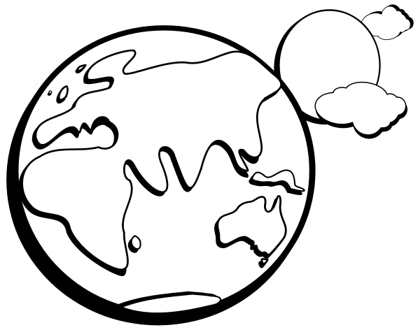597x472 Earth Clipart Black And White Clipart Panda