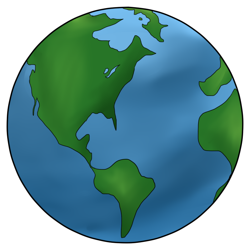 800x800 Earth Clipart Black And White Free Images