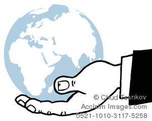 300x240 Image Of A Black And White Hand Holding The Earth