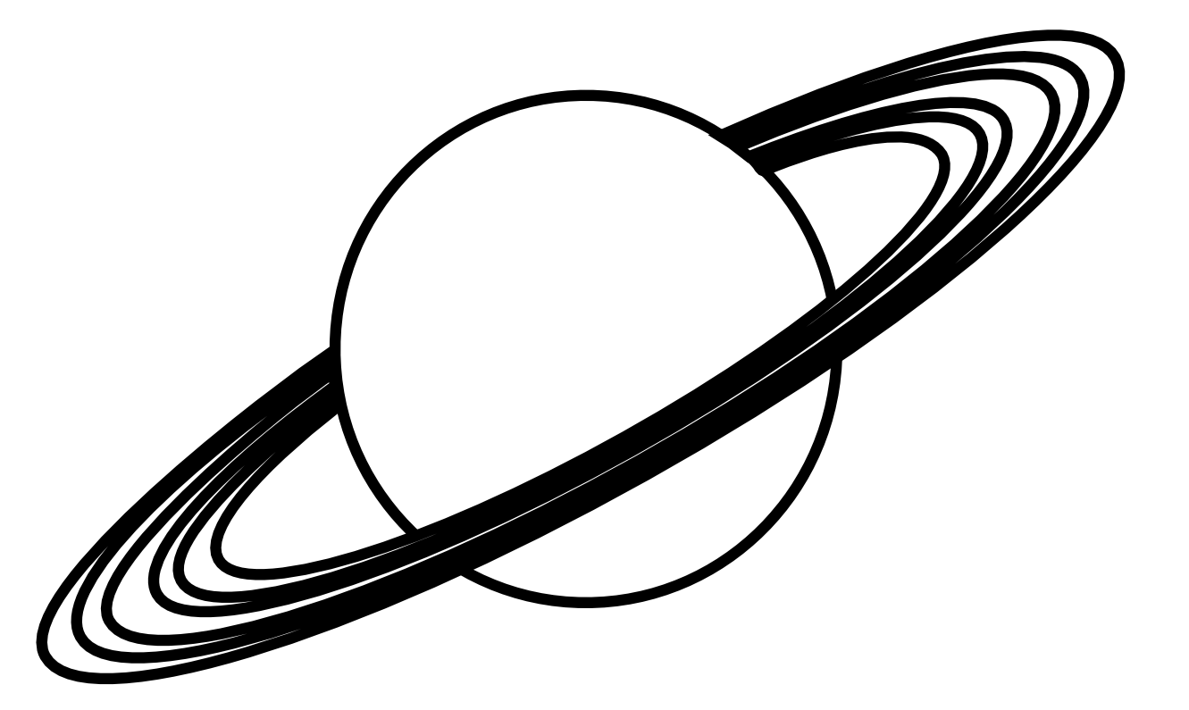 1331x795 Planet Clipart Black And White Free Images