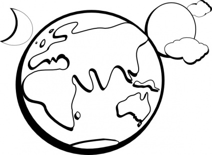 425x311 Earth Moon Sun Outline Clip Art Vector, Free Vector Graphics