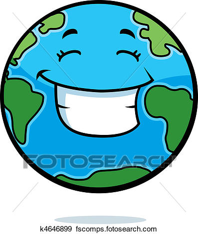 397x470 Clip Art Of Earth Smiling K4646899