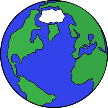350x350 Earth clipart simple