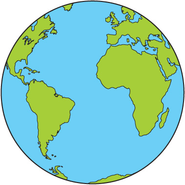 379x379 Image of Globe Clipart for Kids