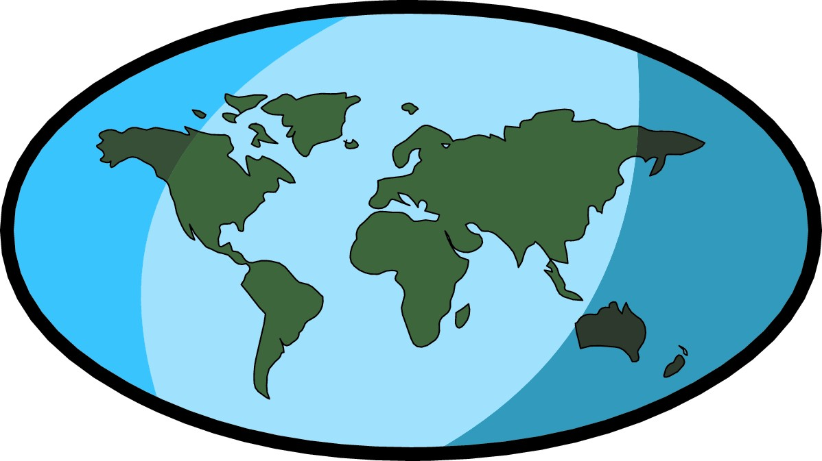 1198x673 Map Clipart Earth Map